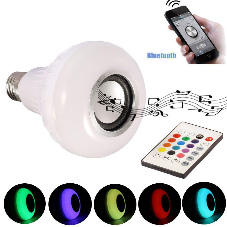 LED Bluetooth Музичка светилка-звучник со далечинско