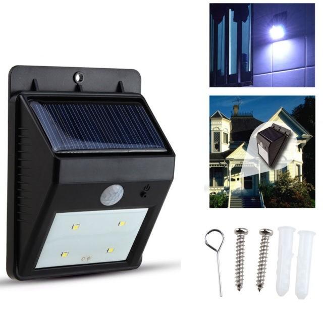 Надворешен Соларен LED Рефлектор со сензор