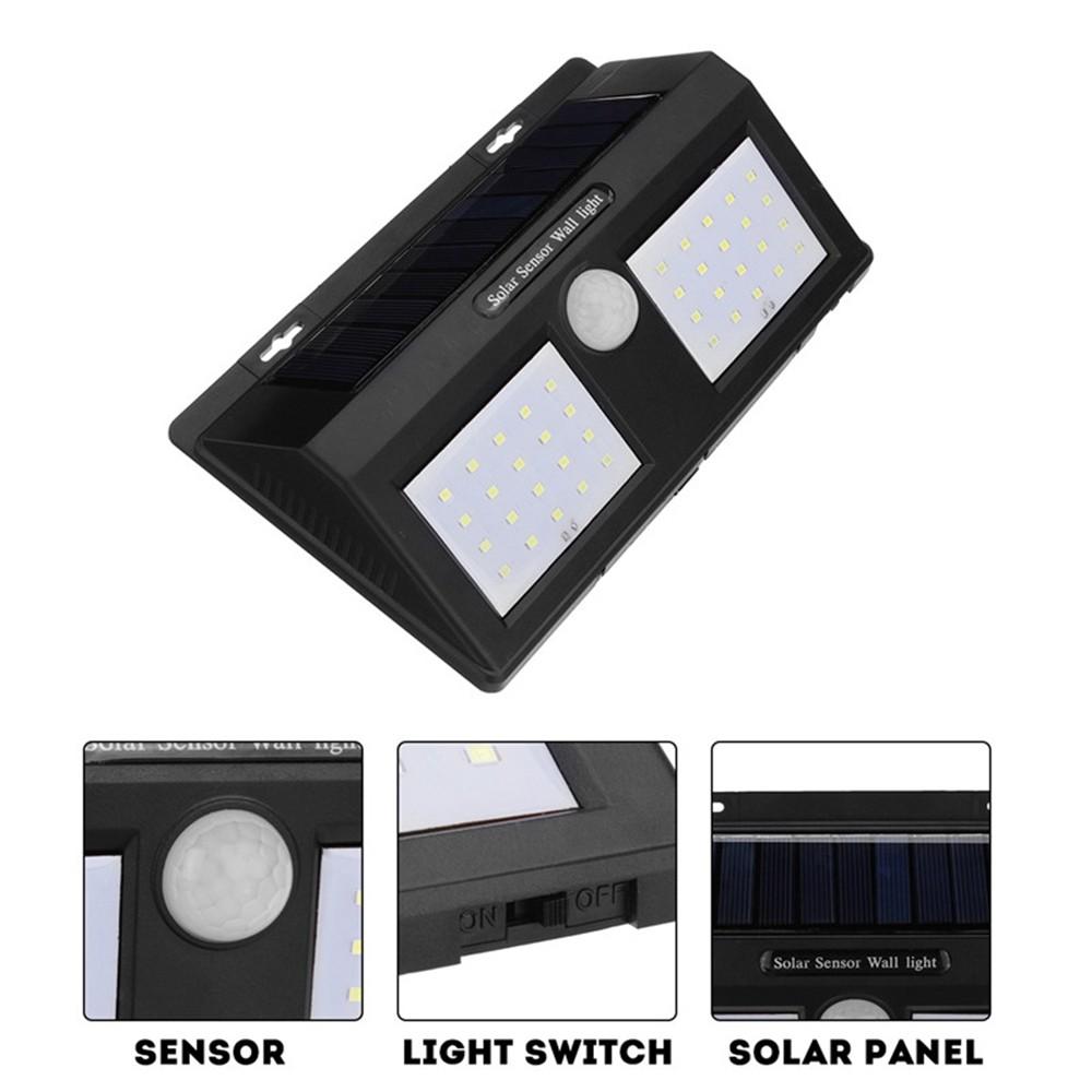 Двоен LED соларен рефлектор со сензор