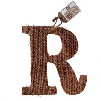 Буква од ткаенина - R